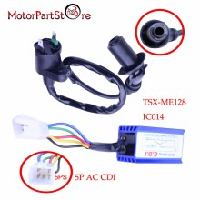 5 Pin Performance AC CDI + Black Ignition Coil for Honda XR50 CRF50 Dirt Pit Motor Bike 110cc 125cc Gokart Motorcycle Engine $
