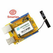 Official smarian  Version Yun Shield v2.4 All-in-one Shield for Arduino UNO Leonardo Mega2560 Linux WiFi Ethernet USB Internet D