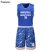 High quality men customized basketball uniforms sets college team basketball jerseys adult training suits 2017 new arrival