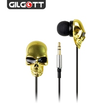 3.5mm Stereo Wired Gold Skeleton In Ear Earphones For Mobile Phone MP3 MP4 PC Computer(China)