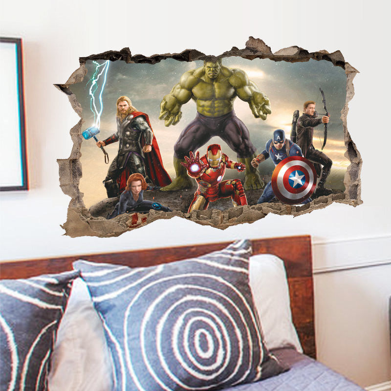 IRON MAN 3 Avengers Decal Removable WALL STICKER Home Decor Art FREE SHIPPING