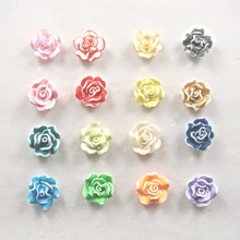 20*11mm 10pcs/bag Mixed Color Resin Flower Resin Rose Flatback Resin Flower For DIY,Phone Decoration, Garment Accessories