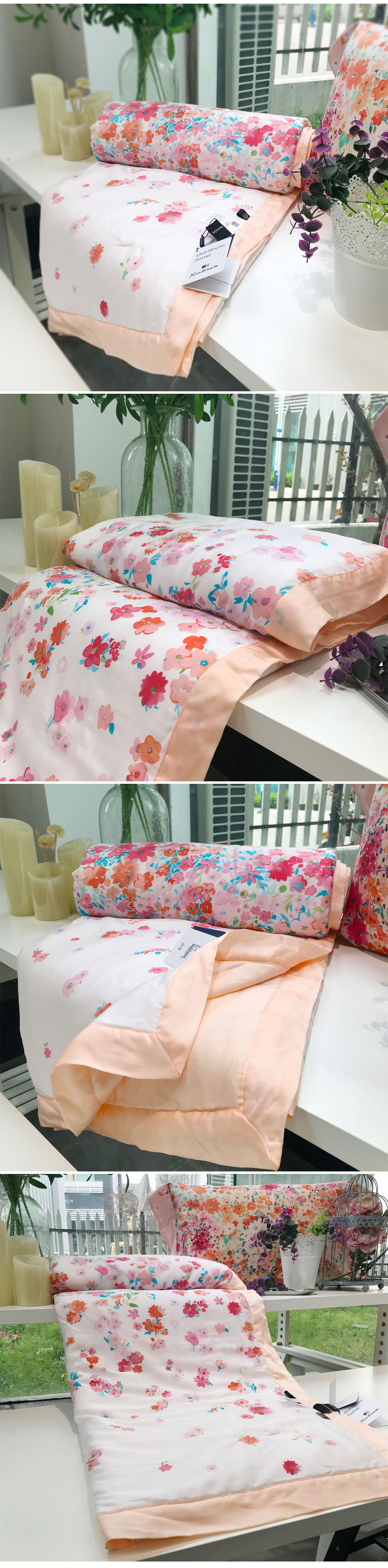 2018 summer comforter bedding set queen size 60s exquisite tencel cotton quilt lyocell fiber bed quilted pastoral flower printing process quilts 19