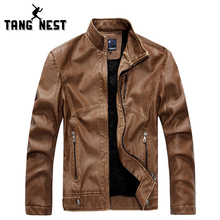 Buy TANGNEST Hot Sale 2018 Men PU Leather Jacket Fashion Casual Slim Leather Jackets Men Mandarin Collar Male Leather Jacket MWP265 for $49.16 in AliExpress store
