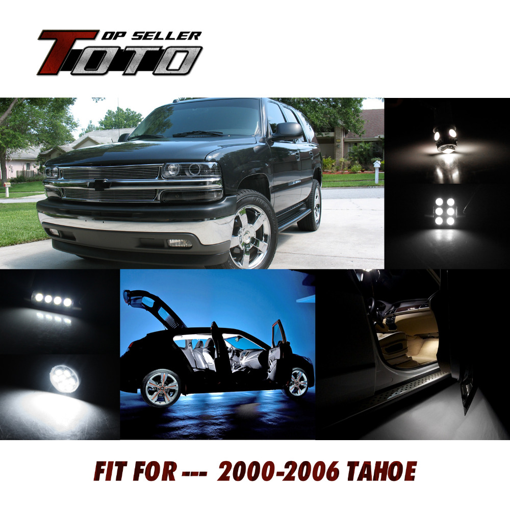 17+1PCS For Chevy 2000-2006 Tahoe Car Interior 6000K Auto Dome Map license plate Step Courtesy Light lamp Led Kit 122#<br><br>Aliexpress