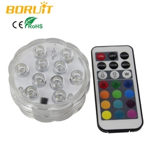 1Set Remote Control Colorful Electric LED Candles Plastic Underwater Aquarium Light For New Year Christmas Wedding Decoration(China)