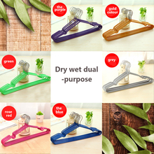 Hot Dry Rack Bathroom decorative shelf Non-Slip Metal Shirt Trouser Coat Clothes Hook Hangers Clothes Storage Organizer