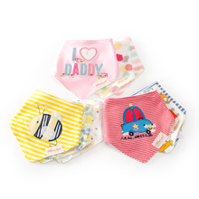3Pcs/Lot Newborn Cotton Baby Bibs Top Quality Boys Girls Towel Cartoon Bandana Bibs Bib Infant Saliva Towel Toddler baberos(China)