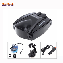 OkeyTech Car Style Mobile Anti Speed Navigation Radar Detector Head Radar Tachometer Car-detector English Voice Free Shipping(China)