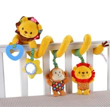 Jollybaby Cute Soft Plush lion Baby Hanging Toy Stroller Star Hanging infant Rattle Mobile revolves around Toys with Teether