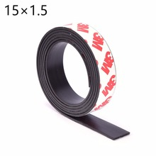 15*1.5 1 Meter self Adhesive Flexible Magnetic Strip 3M Rubber Magnet Tape width15mm thickness 1.5mm Free Shipping 15mm x 1.5mm(China)