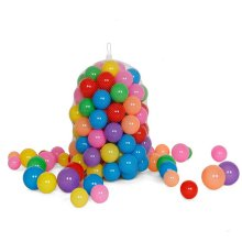 100pcs/lot high quality Multi Coloured 6cm Play Balls Ocean Ball Pits baby kids toy with net