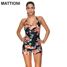 MATTIONI Women Swimsuit One Piece Swimwear Floral Style Push Up Swimsuit Print Sexy Style Women's Body Swimming Suit