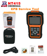 Original Foxwell NT415 EPB/ABS/SRS+CAN OBDII Diagnostic Scan Tool Turn off Check Engine Light Clears Codes Resets Monitors
