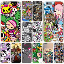 Tokidoki and Hello Kitty Hard Transparent Case Cover for iPhone 4 4S 5 5S SE 5c 6 6s 7 7 Plus