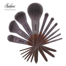 Sylyne makeup brush set 10pcs soft high quality full professional makeup brushes Red-brow wood handle make up brushes kit tools.(China)