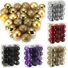 Sale New Arrivals 24 Pcs/Set Glitter Chic Christmas Baubles Ornament Ball Party Home Garden Decor(China)