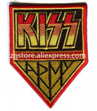 Hot Selling ! NEW Embroidery Music Rock Band Patches KISS Patches Iron on 9.8cmx7.5cm EPP958(China)