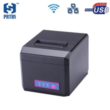 80mm ethernet pos printer wifi thermal receipt printer with cutter support QR code printing and multi-language for retailing(China)