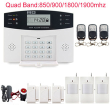 GSM/PSTN SMS Kit Burglar Alarm System Security LCD Keyboard Wireless Gsm alarm system LCD Auto Dialer 433 MHz pir detector
