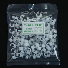 5mm Circle Path cable clips Round white cable nail wire clips 100PCS/bag wholesale price High Quality Full Quantity(China)