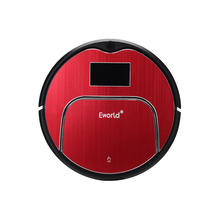 Eworld Vacuum Cleaners M883 Touch-Sensitive Auto Recharge Auto-Cleaning Anti-Fall Sensor With Big Mop Vacuum Cleaner Robot