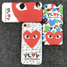 Fashion popular Japan CDG Play Comme des Garcons cool design Heart Matte Soft IMD phone Cases for iPhone 7 6 6s 8 Plus Cover