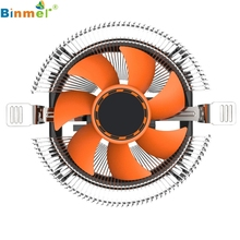Hot-sale BINMER Computer Fan 10.3 x 4.9cm Case CPU Cooling Cooler Fan Heatsink  7 Blade For Intel LGA 775 1155 1156 AMD 754 AM2