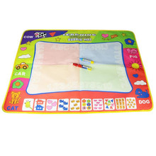 Coolplay 80x60 CM Water Drawing Mat with 2 Magic pens water drawing Board water draw rug doodle mat coloring toy for kids(China)