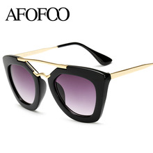 AFOFOO New Brand Design Sunglasses Vintage Good Quality Women Sun glasses Fashion Eyewear UV400 6 Color Oculos de sol(China)