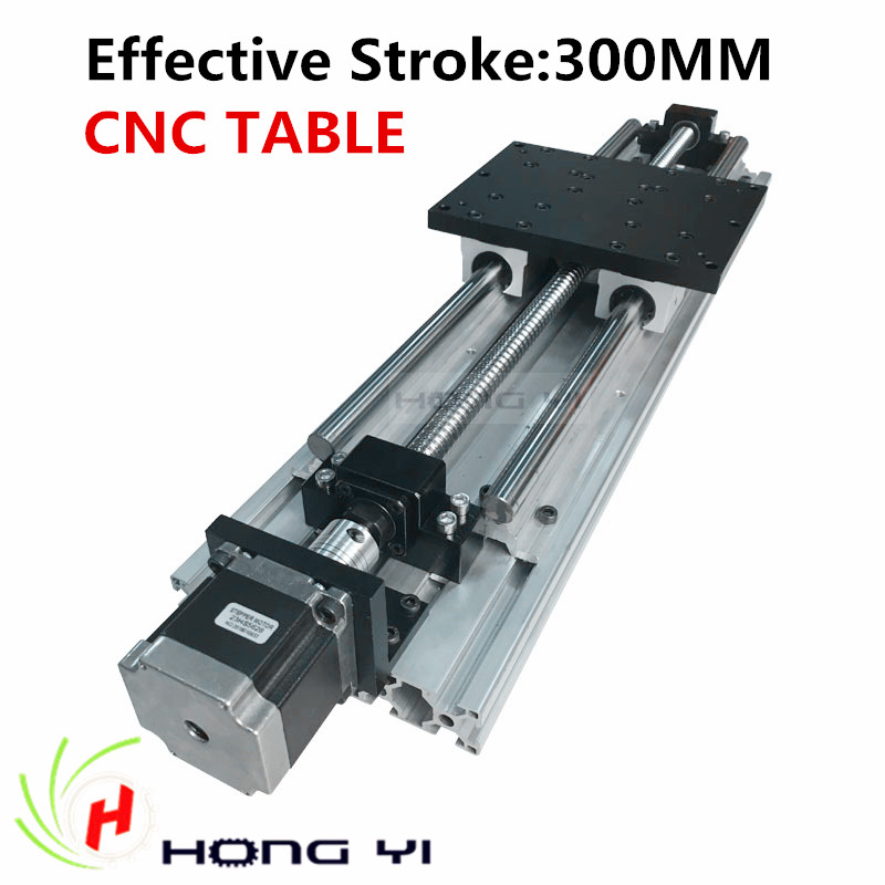 Best prices !! Linear Modules effective stroke 300mm Linear Guides SBR16 Ball screw NEMA 23 stepper motor for CNC table<br><br>Aliexpress