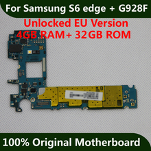 For Samsung Galaxy S6 edge Plus G928F Motherboard 32GB Original Unlocked Mainboad With Chips Logic Board IMEI Android OS(China)