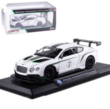 FreeShipping 1:24 Bentley Continental GT3 Alloy Diecast Vehicle car Model Collection Toy For Baby Collection/Gift Toys(China)