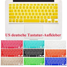 "US Layout German Letters Deutsche Alphabet Keyboard Stickers for Macbook Pro 13"" 15"" 17""/Macbook Air 13 Silicone keyboard Cover"