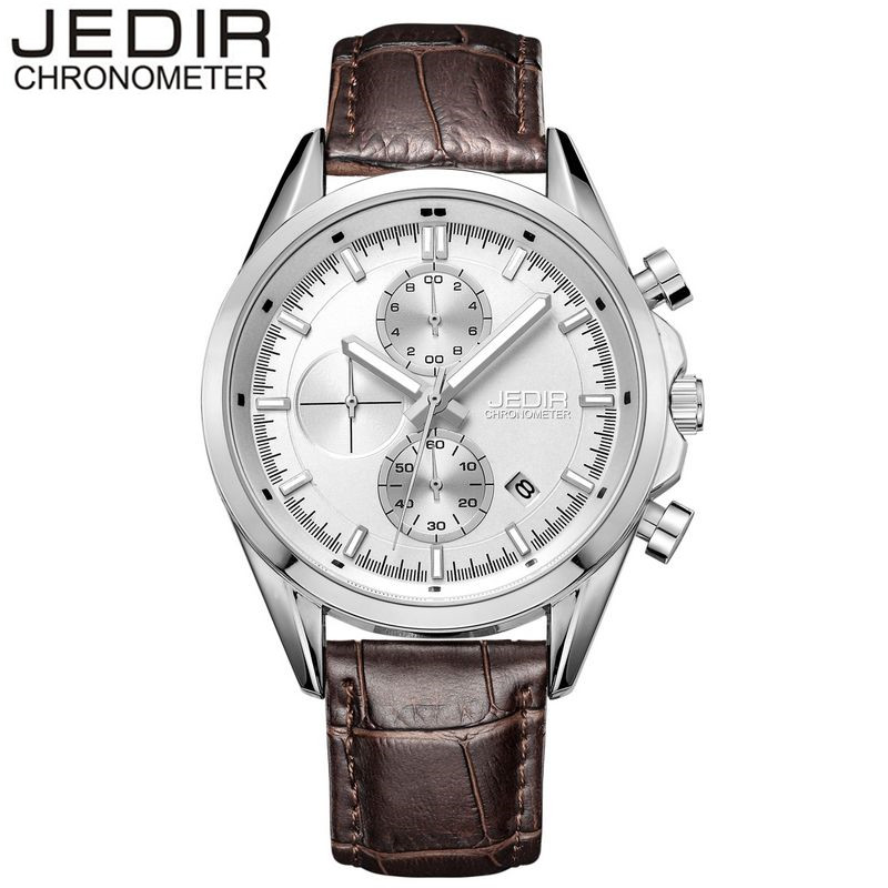 JEDIR 2017 Original Luxury Mens Business Day Watch Leather Fashion Male Quartz Wrist Watch Relogio Masculino Gift Box Free Ship<br><br>Aliexpress