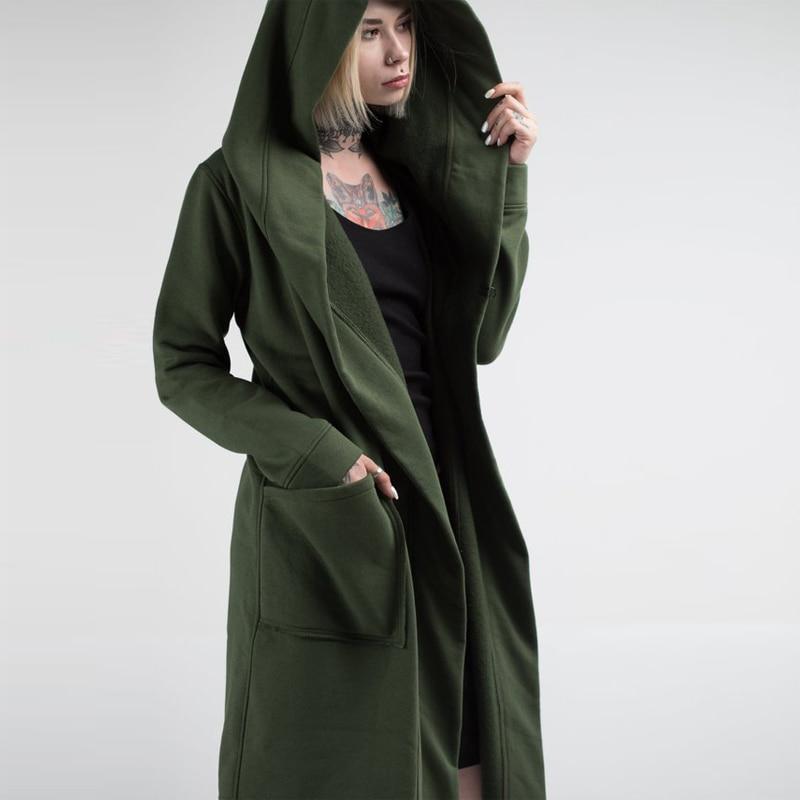 USA Men Women Cardigan Hooded Long Cloak Cape Coats Loose Casual Jackets Outwear