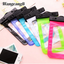 Bags Waterproof Case mobile phone bag universal for iphone 6s case underwater for iPhone4s 5s 7s for Samsung Galaxy S7 screen