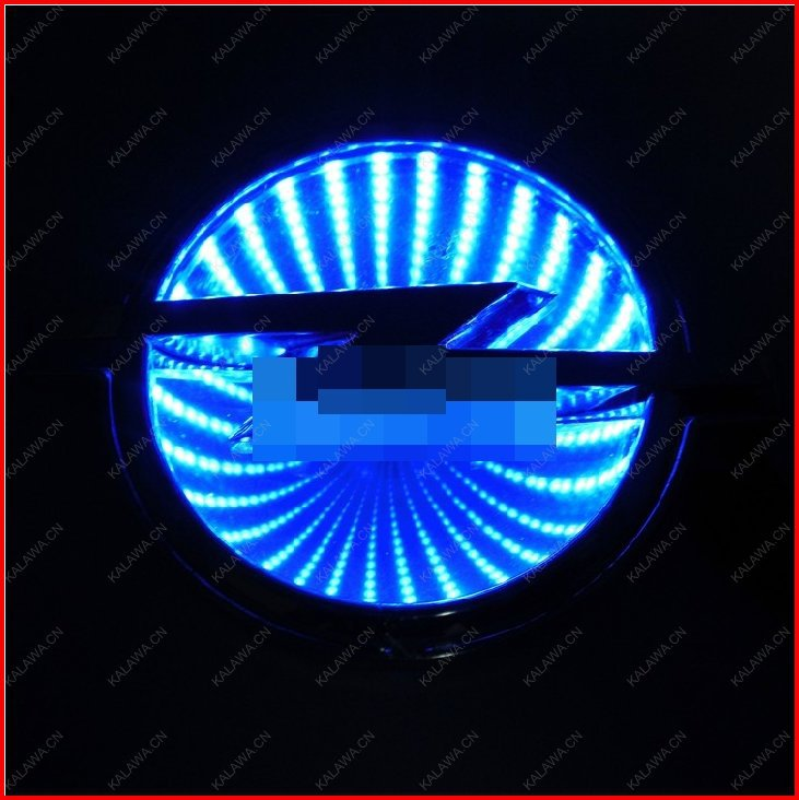 BIG LOGO(13.3cmX 10.1cm) 3D laser LED emblem car badge 3D logo light rear light Replacement case For opel GGG FREESHIPPING(China (Mainland))