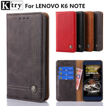 Buy K'try Lenovo K6 Note Case,Luxury Flip Leather Case Lenovo K6 Note 5.5''Wallet Phone Cover Coque +Card Holder for $5.89 in AliExpress store