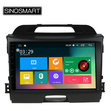 "SINOSMART Support 4G 9"" Quad Core RAM 2G/1G Android 6.0 Car Navigation GPS Player for Kia Sportage R 2010-2015 Canbus Optional"
