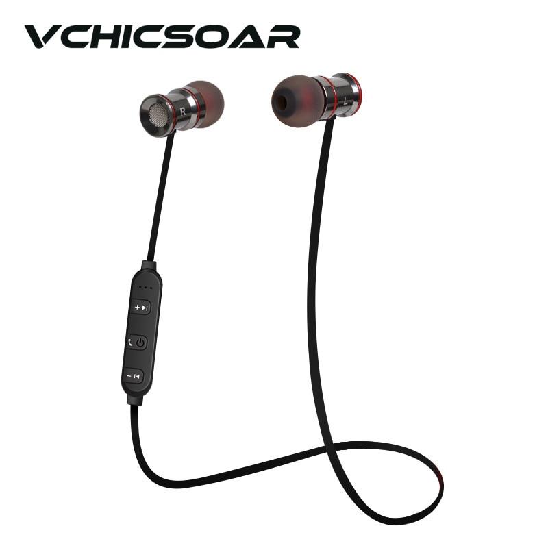 VCHICSOAR Metal Magnet Earphones Bluetooth 4.1 Stereo In-Ear Headphones HiFi Voice Dialing Handsfree Wireless Earbuds for xiaomi<br><br>Aliexpress