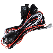 SufeMotec LED Work light Relay Wire Harness Loom Fuse Switch 3 Metter Suit For Connect 2pcs LED working lights/bar light 12V 40A(China)