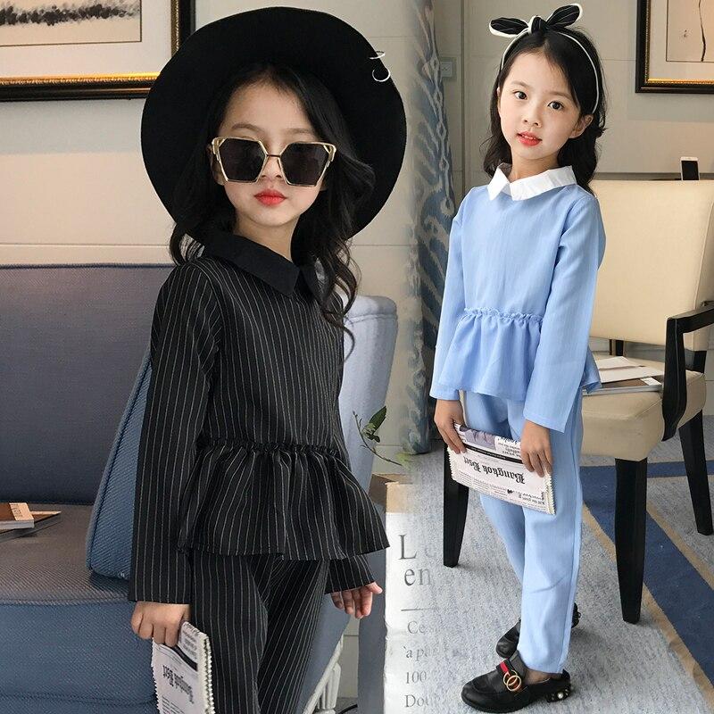 2017 Fashion Meisjes Kleding Teenage Girls Suit Spring Girls Clothing Sets Kids T-shirt &amp; Pants 2 Pcs Suit Kids Clothes Costume<br>