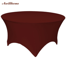 Free Shipping 30pcs 5 ft. Round Stretch Table cover spandex table covers for weddings(China)