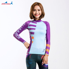 Rash Guard Long Sleeve Women , Quick Drying UPF 50+ UV Shirt Swimwear Slim Fit Sun Protection Rashguard Surf Swiming Tee Shirt