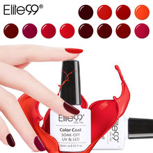 Elite99 10ml Nail Gel Polish Wine Red Color Nail Polish Soak Off LED UV Gel Lacquer Gel varnish