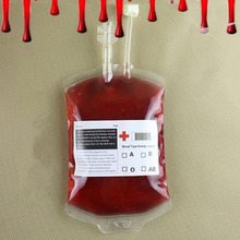 10PCS Creative Vampire Blood Bag Blood Energy Fruit Juice Beverage Drinking Decor Halloween Party Props Masquerade Accessories