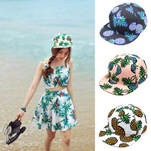 2017 Most Popular 1PC Pineapple Snapback Men And Women Hat Adjustable Baseball Cap Hip-hop Soft Hat Unisex  A8