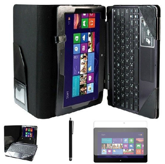 For ASUS Vivo Tab RT TF600 TF600T Folio Stand luxury leather case With Keyboard Station Cover + Screen Protector +Stylus<br><br>Aliexpress