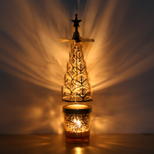 European Iron Candlestick Tree Rotation Lantern Candle Aromatherapy Romantic Candlelight Dinner Gifts Articles